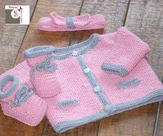 Babymerinoset in rosa/grau