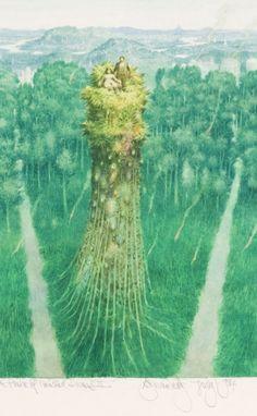 "toutpetitlaplanete: "" Albín Brunovský - In Praise of Troubled Dreams III, 1984 "" Pierre Auguste Renoir, The Old Days, Mural Painting, Weird And Wonderful, Simple Art, Artist Art, Printmaking, Illustrators, Modern Art"