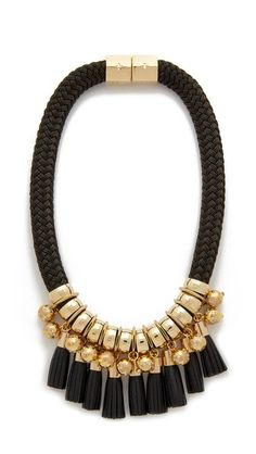 Holst + Lee Leather Lace Necklace