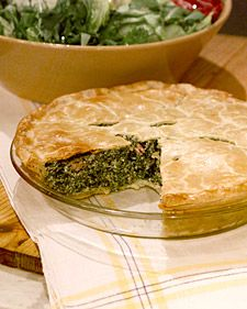 savory Italian pie filled with spinach and ham.