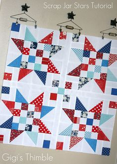 IL♥VE scrappy quilts!    I love the idea of making something beautiful and originalout of seemingly nothing.Ilove the idea of makin...