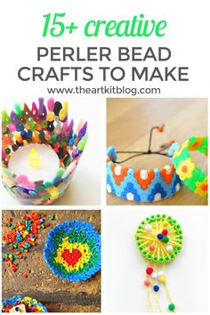 Perler Bead Ideas - 15 Creative DIY Projects. Perler beads are one of our favorite craft supplies - they're so colorful, cheerful, and fun to work with. For being such a simple product, they definitely provide endless creative opportunities. Today we're sharing more than 15 creative Perler bead ideas to inspire you to create your next Perler bead masterpiece. To see all the fun, please continue reading on the blog. #perlerbeadideas #perlerbeadcrafts #hamabeads #perlerbeads via @theartkit