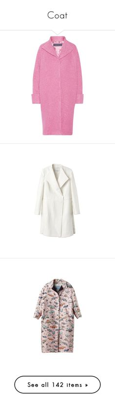 """Coat"" by alina-chipchikova ❤ liked on Polyvore featuring outerwear, coats, jackets, texture coat, emanuel ungaro coat, emanuel ungaro, pink coat, wool blend coat, coats & jackets and white coat"