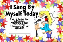 Sang By Myself Certificate