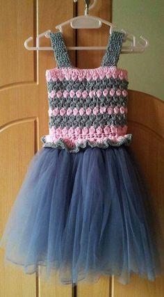 crochet toddler tutu dress/6-12 months old kids