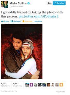 Misha Collins on Twitter [Meanwhile Misha!]