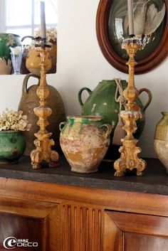Confit pots and Altar Candlesticks