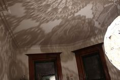Picturesque shadows of Shannon's handmade crochet & lace doily lamp. Corchet & Lace: http://clippings.com/folders/crochet-lace-8629