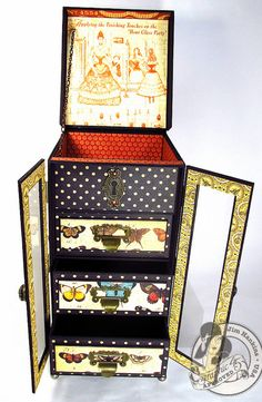 Love the altered drawers and inside of this great cabinet from @Jim Schachterle Hankins, the Gentleman Crafter! #graphic45