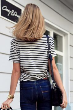 Stripes and jeans. All a girl needs.