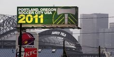 Portland Timbers stoke their rivalry with the Seattle Sounders by putting this billboard in Seattle, right across from the Sounders' stadium