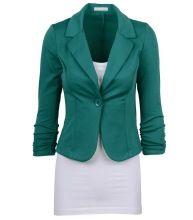 19 Estilo Británico de Color Sólido Blazer Mujeres Blazers Y Chaquetas de Un Solo Botón de Rosa Verde Negro Mujer Casaco Feminino(China (Mainland))