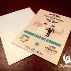 Nyomtatott esküvői meghívó #esküvői #meghívó #nyomtatott #esküvőimeghívó #egyedi #wedding #weddinginvitation #printed #unique #bride #groom