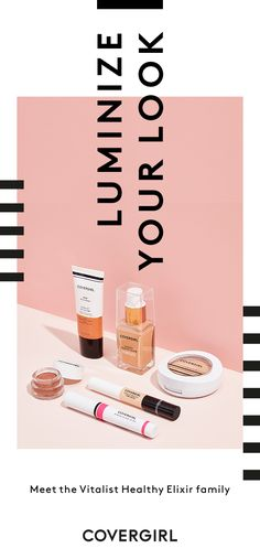 The COVERGIRL Vitalist Healthy Elixir family just GLEW UP! Luminize your look with this family of hydrating, healthy products to get that perfect glow.