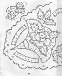 View album on Yandex. Embroidery Designs, Cutwork Embroidery, Embroidery Needles, Machine Embroidery Patterns, Lace Patterns, Vintage Embroidery, Diy Broderie, Point Lace, Crochet Motif