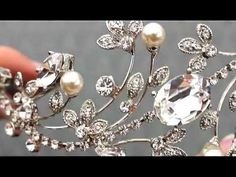 Romantic & Dramatic Rhinestone Headband Tiara by Hair Comes the Bride - YouTube