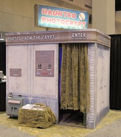 Haunted photo booth - That could be so much fun for a garage haunt. Have them sit in with a mirror in front of them.  What's that behind you?