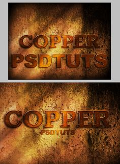 How to Create a Copper Photoshop Text Effect - Tuts+ Design & Illustration Tutorial