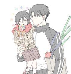 Levi Ackerman, Levi Mikasa, Romantic Anime Couples, Rivamika, Attack On Titan Funny, Anime Naruto, Siblings, My Hero, Fan Art