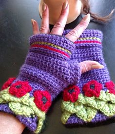 Sadie Fleece Lined Gloves Elven Collection ( headband sold separately) — Alily Crochet
