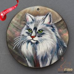 HAND PAINTED FOX WILDLIFE NATURAL MOTHER OF PEARL SHELL DIY PENDANT ZH30 00103 #ZL #PENDANT