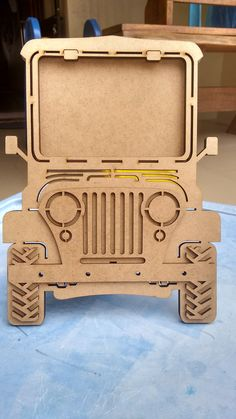 I could make this as a light switch cover.Jeep Portrait Door <br> Lovely picture frame for boys room, or Jeep lovers. <br> In MDF raw with laser cutouts. Laser Art, 3d Laser, Laser Cut Wood, Laser Cutting, Laser Cutter Ideas, Laser Cutter Projects, Cnc Projects, Unique Gifts For Men, Cardboard Furniture