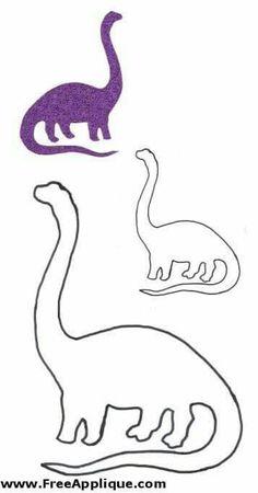 Dinosaur Patterns - Popular Dinosaur Quilt Patterns You Need Applique Templates, Applique Patterns, Applique Quilts, Applique Designs, Embroidery Applique, Quilt Patterns, Dinosaur Template, Dinosaur Pattern, Dinosaur Party