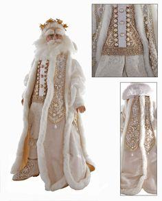 "Katherine's Collection Royal White Christmas Collection 18"" Royal Santa Claus Doll Free Ship"