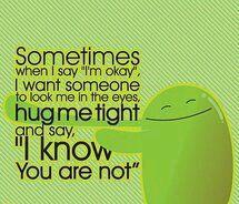 I'm okay means I am not okay