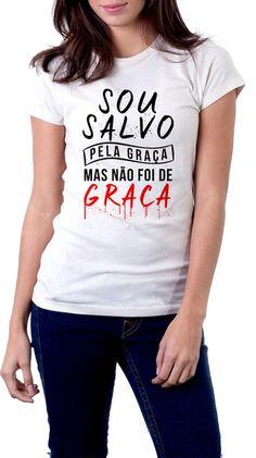 Camiseta branca - ESTE MODELO TEMOS BABY LOOK E CORTE TRADICIONAL. Uma  estampa super moderna 6dcb7dc442fdc