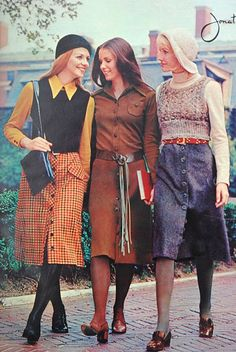 Seventeen Magazine 1970- wow...were the clothes really that dowdy?  Yikes!