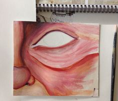 Warm tones painting Is black alright to use? @Orewa College art dept