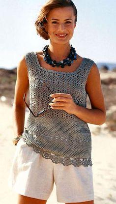 Crochet top Crochettop, free pattern