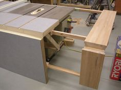 table saw bench plans Folding Sliding Table Saw Extension Wing by screwge LumberJocks