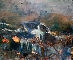 Orgy. 50 x 50. Original fine art encaustic painting by studiorah