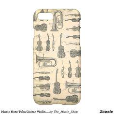 Music Note Tuba Guitar Violin Iphone 7 Case