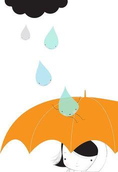 illustration art rain