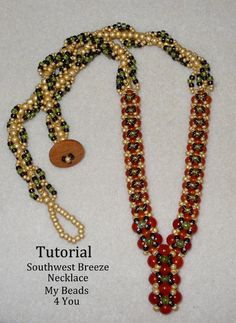 Looking for your next project? You're going to love Southwest Breeze Necklace Tutorial by designer My Beads 4 You. - via @Craftsy