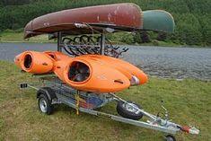 Maintaining Your Kayak to Last Forever - Way Outdoors Kayak Bike Trailer, Boat Trailer, Kayak Storage Rack, Kayak Rack, Kayaks, Cheap Camping Gear, Camping Ideas, Towing Vehicle, Adventure Trailers