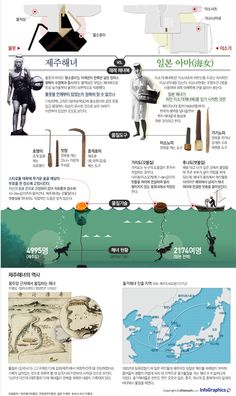 infographics / ocean / sea / korea / japan / history / compare / first / design / 해녀 한·일전…'세계문화유산' 경쟁