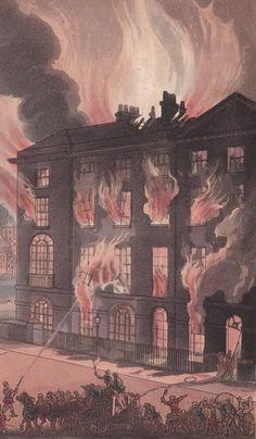 The great fire of Conduit Street in 1809 - via Jane Austen's London