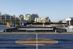 La plate-forme pour l'Architecture et le Design Architecture Design, Land Surveyors, The Precinct, V&a Waterfront, Public Space Design, Gabion Wall, Steel Pergola, Battery Park, Urban Fabric