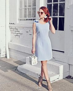 Pretty simple lilac sheath (color of spring for Derby via Blue Frock, Top To Toe, Kentucky Derby, Frocks, Sunnies, Lilac, Spring, Simple, Pretty