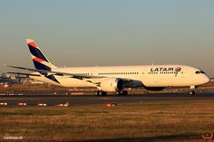 LATAM Chile Boeing 787-9 Dreamliner (registered CC-BGB) taxiing at Frankfurt