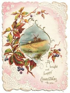 Vintage Landscape - Landscapes - Vintages Cards - Christmas Wallpapers, Free ClipArt for Xmas, Icon's, Web Element, Victorian Christmas Photos and Vintage Santa Claus pictures Victorian Christmas, Vintage Christmas Cards, Christmas Greeting Cards, Christmas Greetings, Vintage Cards, Vintage Postcards, Old Fashioned Christmas, Christmas Past, Christmas Images