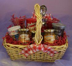 ice cream sundae gift basket idea