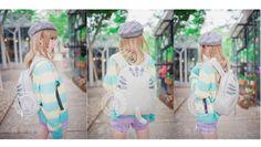 【真空城堡】日本原宿軟妹可愛純棉刺繡貓咪尾巴女背雙肩包書包-淘寶台灣,萬能的淘寶
