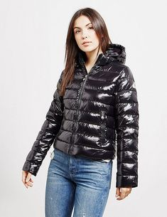 Pyrenex Spoutnic Shiny Jacket - available at Tessuti, the luxury designer retailer for Men, Women and Children. Cool Jackets, Jackets For Women, Winter Jackets, Clothes For Women, Nylons, Down Puffer Coat, Puffer Coats, Women's Puffer, Aviators Women