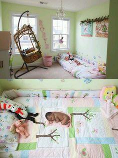 Montesori infant bed; floor bed; nursery