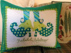 Fun holiday pillow A Kimberbell design!